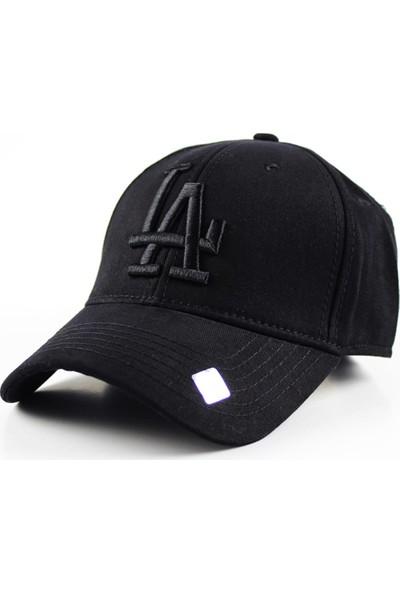 Capstories LA Siyah Logolu Siyah Snapback Şapka