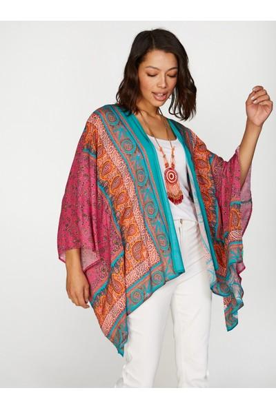 Faik Sönmez Desenli Kimono 38484