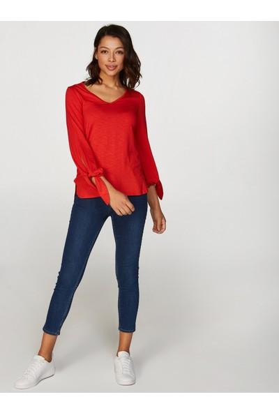 Faik Sönmez Bağcıklı T-Shirt 38759
