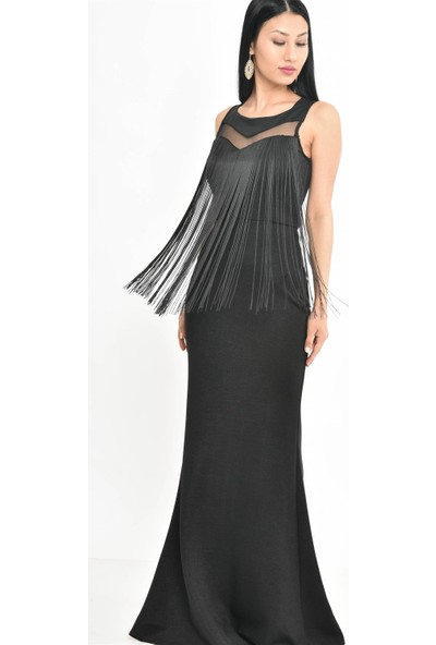 Kalopya 3987 Ravza Saçaklı Elbise
