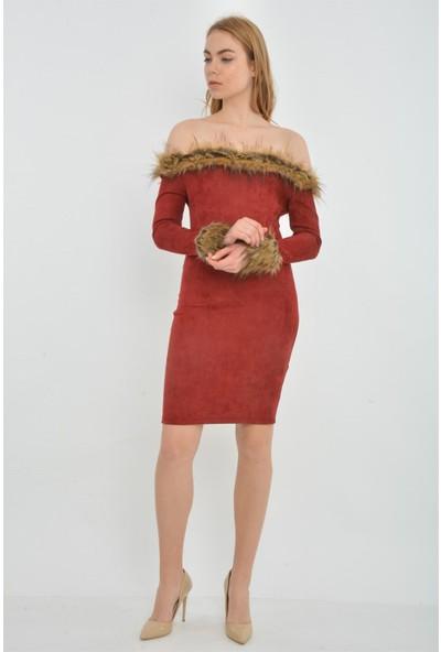 Kalopya 3976 Hira Kürklü Elbise