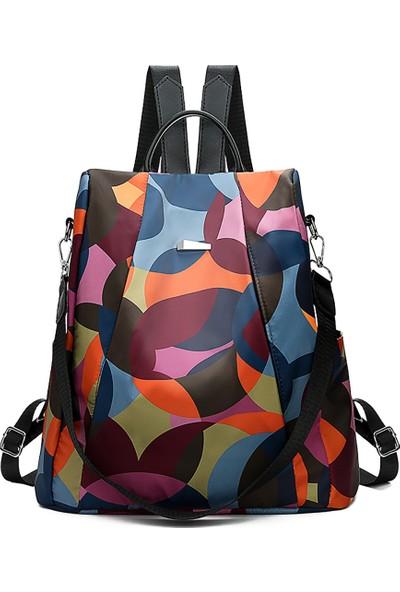 GOB2C Kadın Sırt Çantası-Çok Renkli