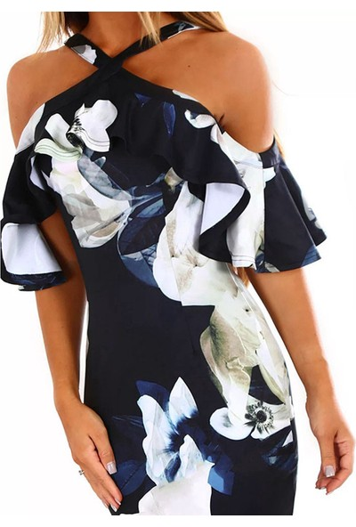 GOB2C Omzu Açık Elbise NY/S