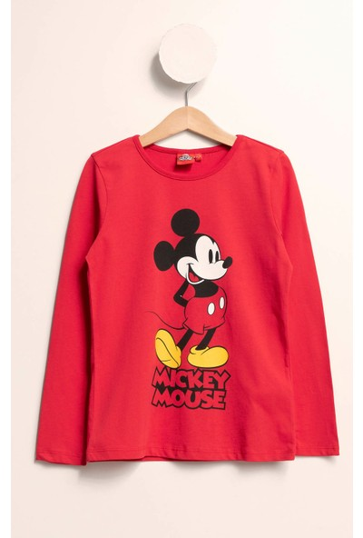 Defacto Kız Çocuk Mickey Mouse Lisanslı Body