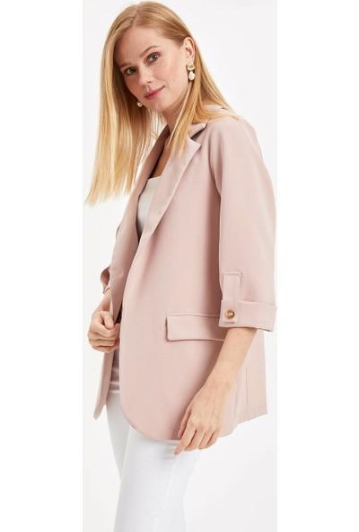 Defacto Kadın Kolları Düğmeli Ceket
