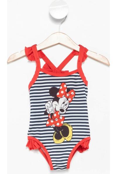 Defacto Kız Bebek Kız Bebek Lisanslı Mickey Mouse Baskılı Sırt Detaylı Mayo