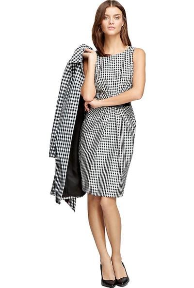 Brooks Brothers Beli Kemerli Kolsuz Elbise