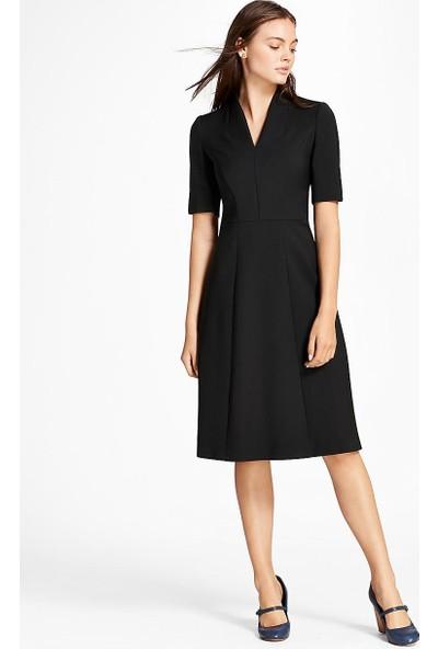 Brooks Brothers V Yaka Yarım Kol Elbise