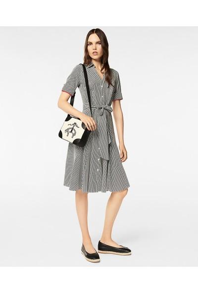 Brooks Brothers Gömlek Yaka Yarım Kol Elbise