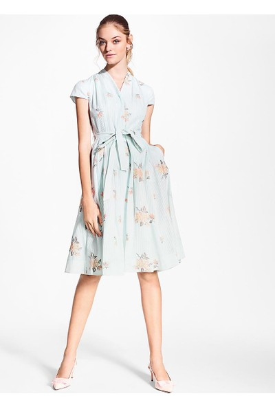 Brooks Brothers Çiçek Desenli Elbise