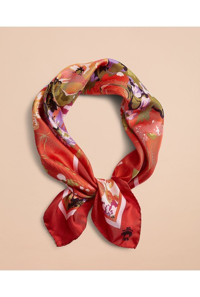 Brooks Brothers Red Fleece Floral Fular