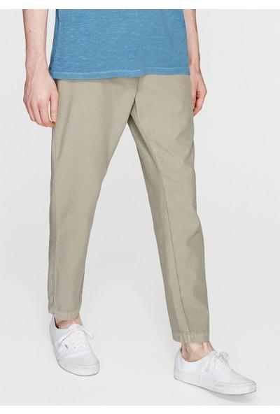 Mavi Bağcıklı Haki Pantolon