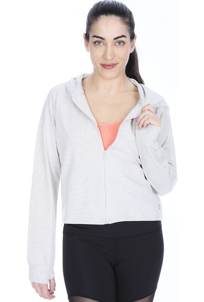 Sportive 710622-Gml Spo-Swekısgırl Kadın Sweat Shırt Gri Melanj