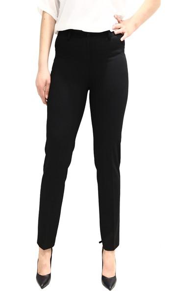 Potpori 14624 Kadın Dar Paça Pantolon (69) Siyah