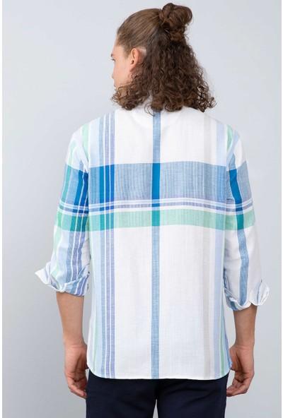 U.S. Polo Assn. Erkek Dokuma Gömlek 50199342-Vr036