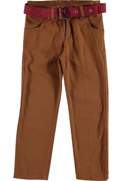 Class Renkli Keten Pantalon Kahve 11 Yaş