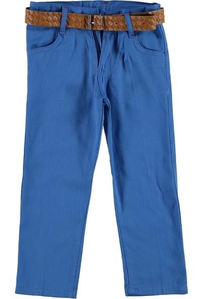 Class Renkli Keten Pantalon Mavi 10 Yaş