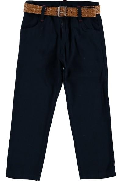 Class Renkli Keten Pantalon Lacivert 5 Yaş
