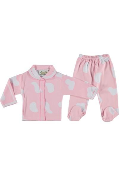 Bebeemm Damalı Kız Bebek Pijama Takımı Pembe