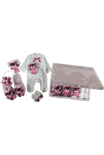 Petite Ponpon Baby Premium Lüx Sandıklı Kız Bebek ve Anne Lohusa Takım