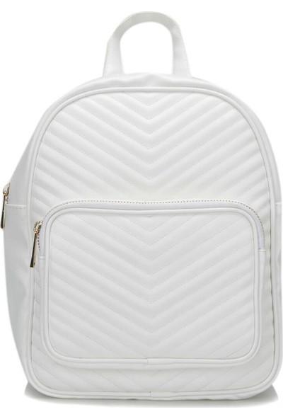 Butigo Wdrn1101 Beyaz Kadın Sırt Çantası