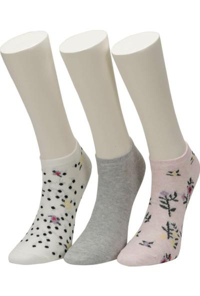 Miss F Pembe Melanj Kadın Patik Çorap