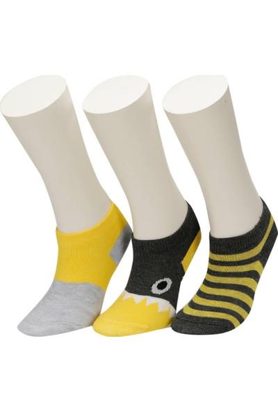 I Cool Sharp 3 Lu Ptk-B Gr Erkek Çocuk Patik Çorap