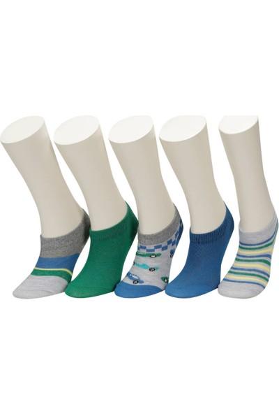 I Cool Cars 5 Li Ptk-B Yesıl Multı Erkek Çocuk Patik Çorap