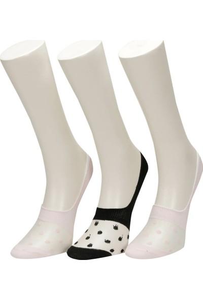 Miss F Sheer 2 Li Suba-W Toz Pembe Kadın Babet Çorabı