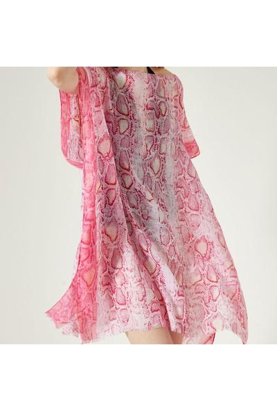 Nesway 11621-1 Pembe Pareo 40Z Pembe Kadın Elbise
