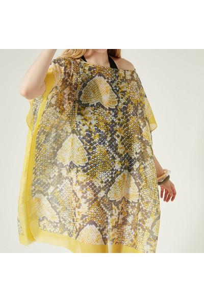 Nesway 11658-1 Sari Pareo 51Z Sarı Kadın Elbise