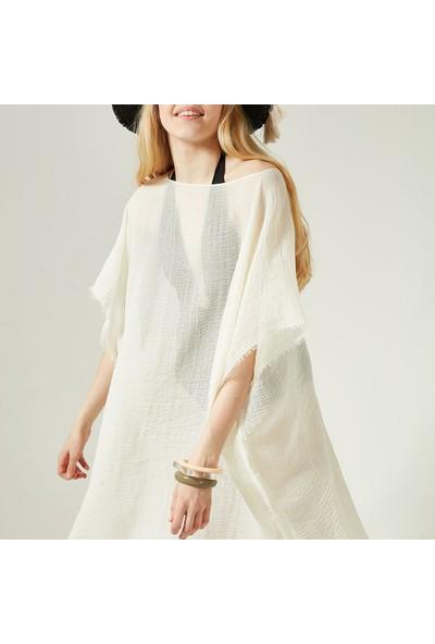 Nesway 11705-1 Ekru Pareo 02Z Ekru Kadın Elbise Çantası