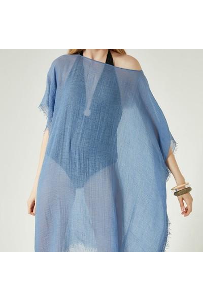 Nesway 11705-1 Mavi Pareo 67Z Mavi Kadın Elbise