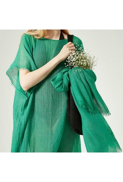 Nesway 11705-1 Yeşil Pareo 59Z Yeşil Kadın Elbise