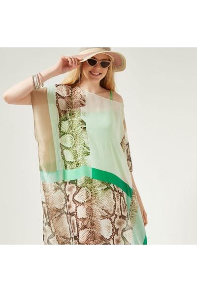Nesway 11723-1 Mint Yeşili Pareo Mint Kadın Elbise