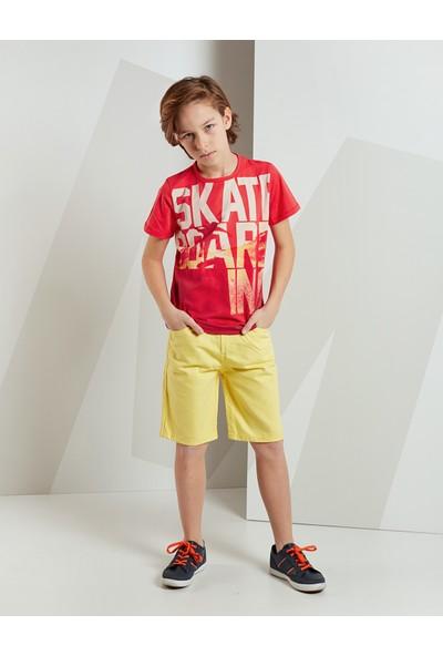Mushi Erkek Çocuk Skate Gabardin Şort Takım