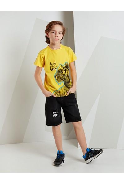 Mushi Erkek Çocuk Winner Tiger Kot Şort Takım