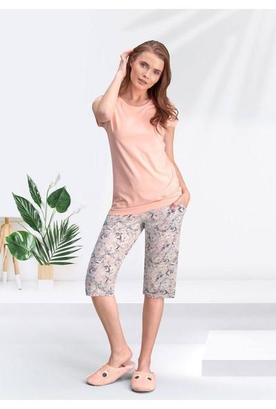 Arnetta 195 Kadın Kısa Kol Kapri Pijama Takımı