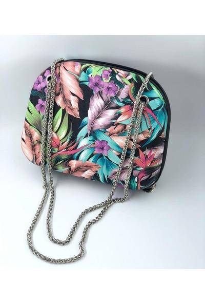 Krista Bell Çiçek Desenli Kadın Çanta
