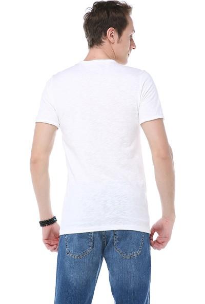 Manche Ekru Pis Dikişli T-Shirt Me19S214537