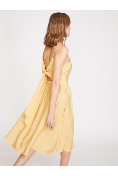 Koton Sırt Detaylı Elbise