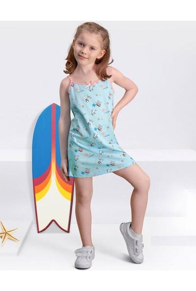 Arnetta Skate Mavi Kız Çocuk Gecelik