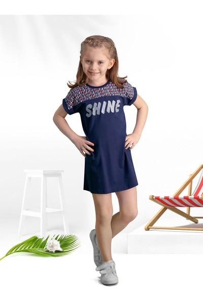 Arnetta Shine Lacivert Kız Çocuk Gündelik Elbise