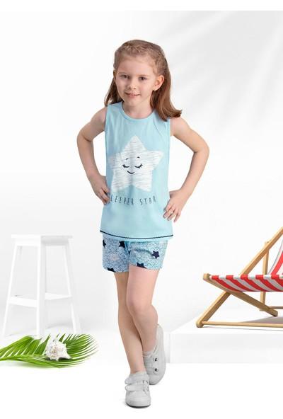 Arnetta Sleeper Star Mavi Kız Çocuk Şort Takım