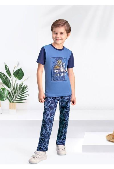 Arnetta Bambu Duman Erkek Çocuk Pijama Takımı