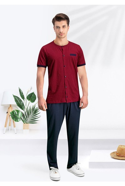 Arnetta Groom Bordo Erkek T-Shirt, Bermuda & Pantolon Takım 3'Lü Çeyizlik Damat Seti