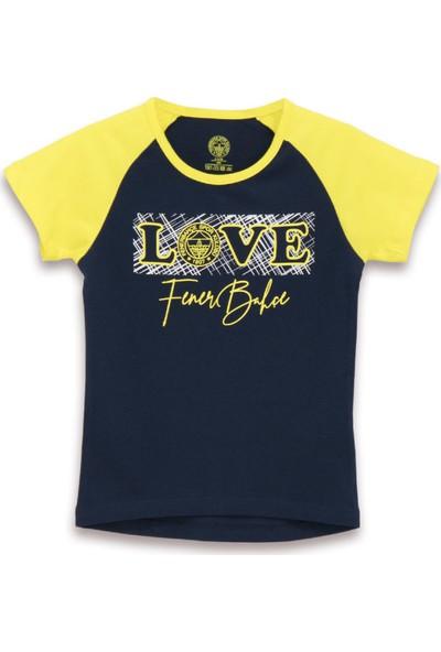 Fenerbahçe Lisanslı Kız Çocuk T-Shirt Lacivert