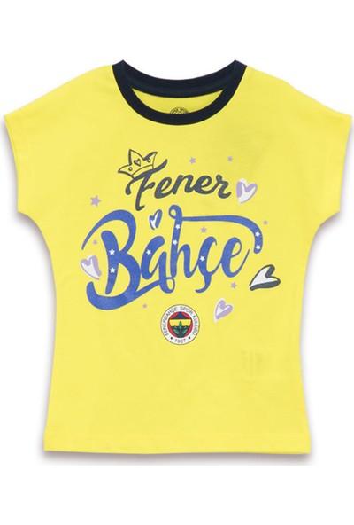 Fenerbahçe Lisanslı Kız Çocuk T-Shirt Sarı