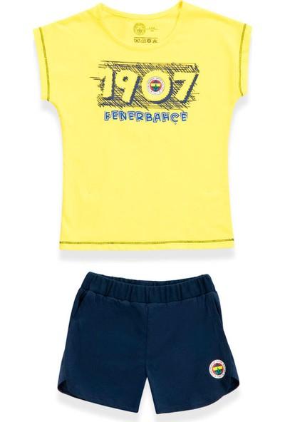 Fenerbahçe Kız Çocuk Şortlu 2'Li Takım Sarı