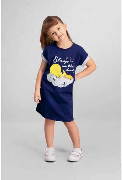 Looney Tunes Tweety Lisanslı Lacivert Kız Çocuk Gecelik